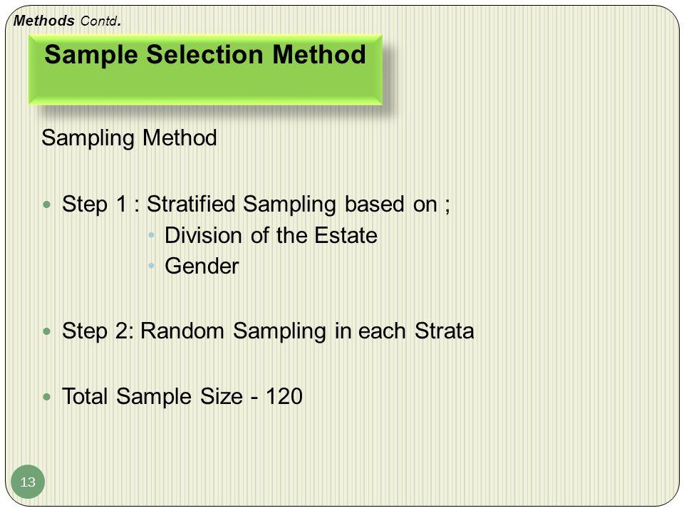Sample Selection Method