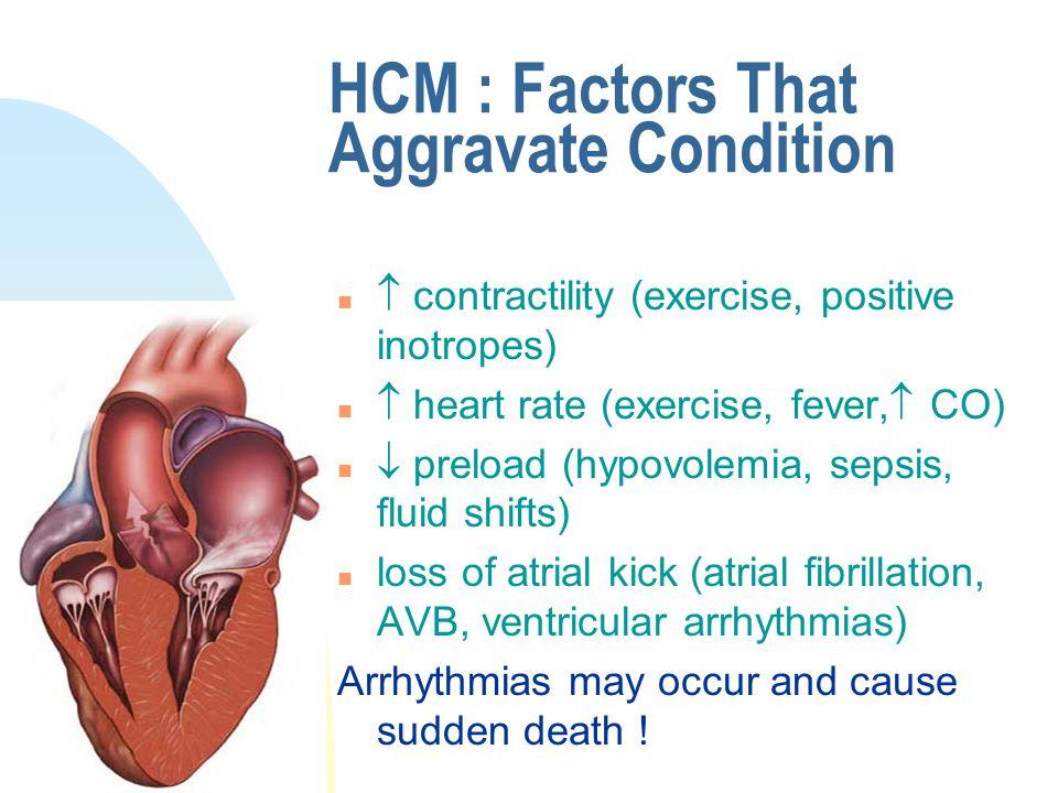 HCM : Factors That Aggravate Condition