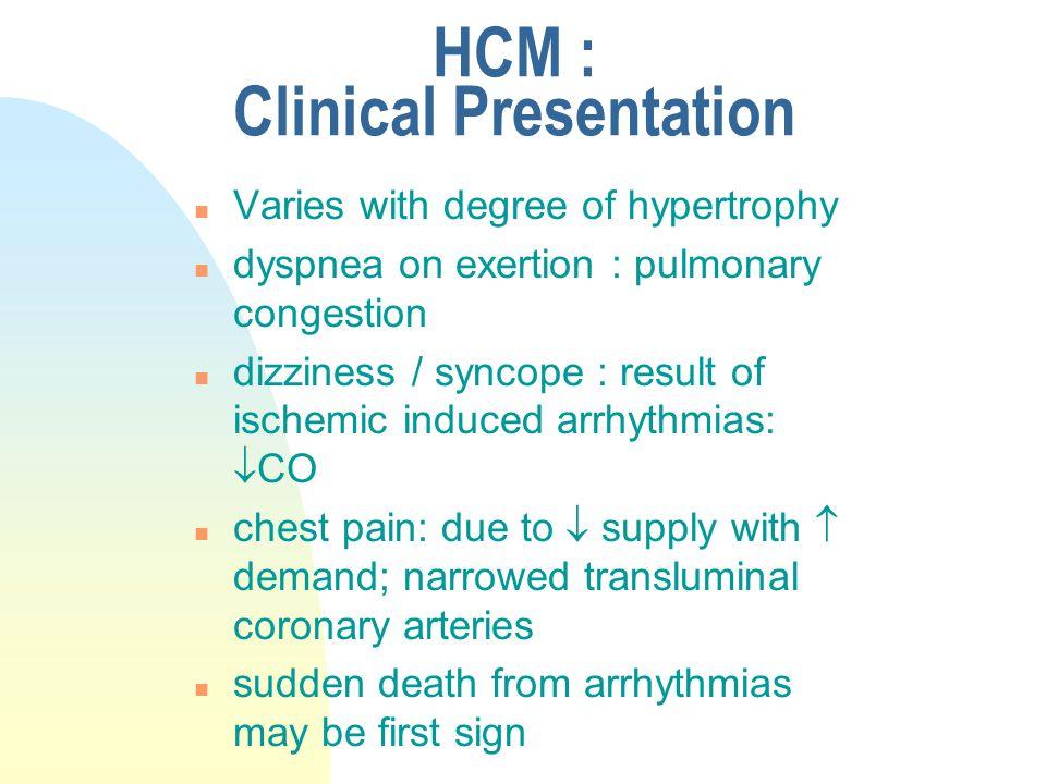 HCM : Clinical Presentation