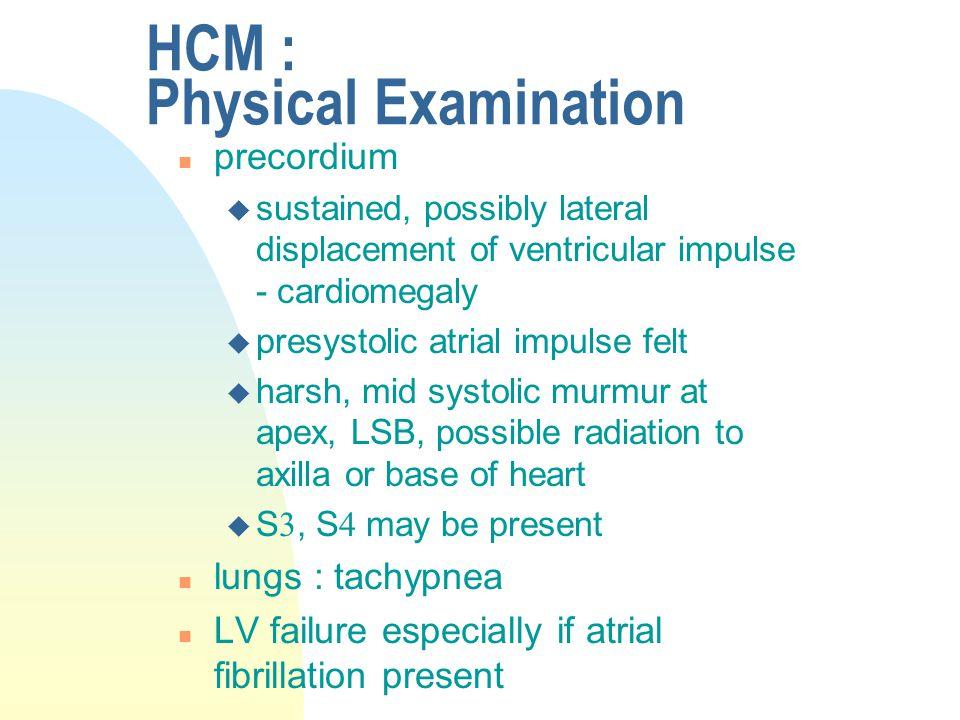 HCM : Physical Examination