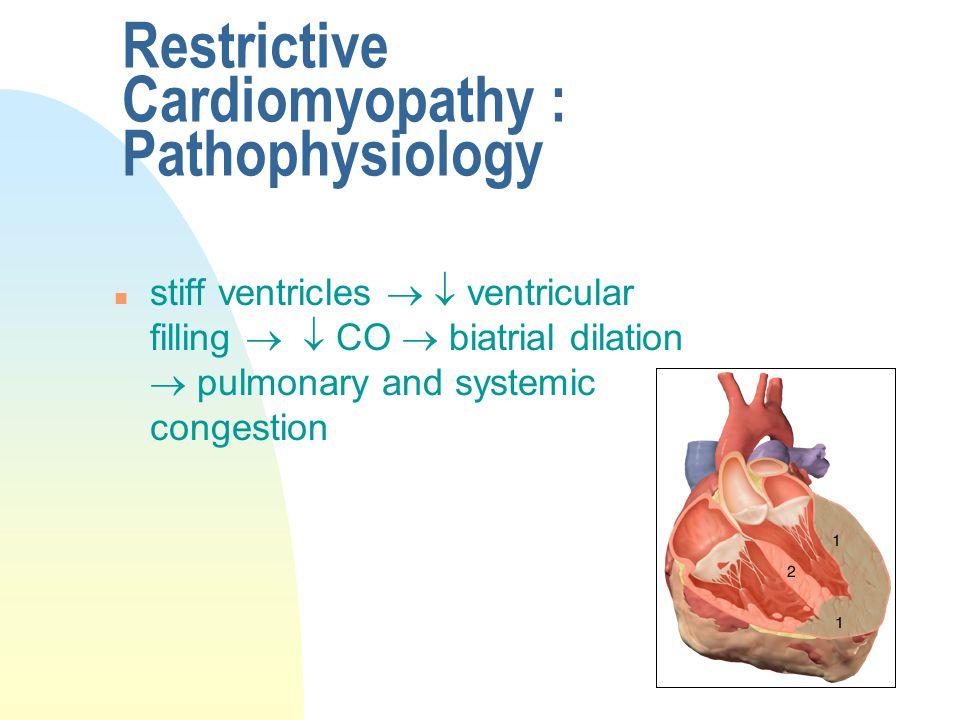 Restrictive Cardiomyopathy : Pathophysiology