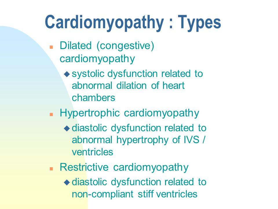 Cardiomyopathy : Types