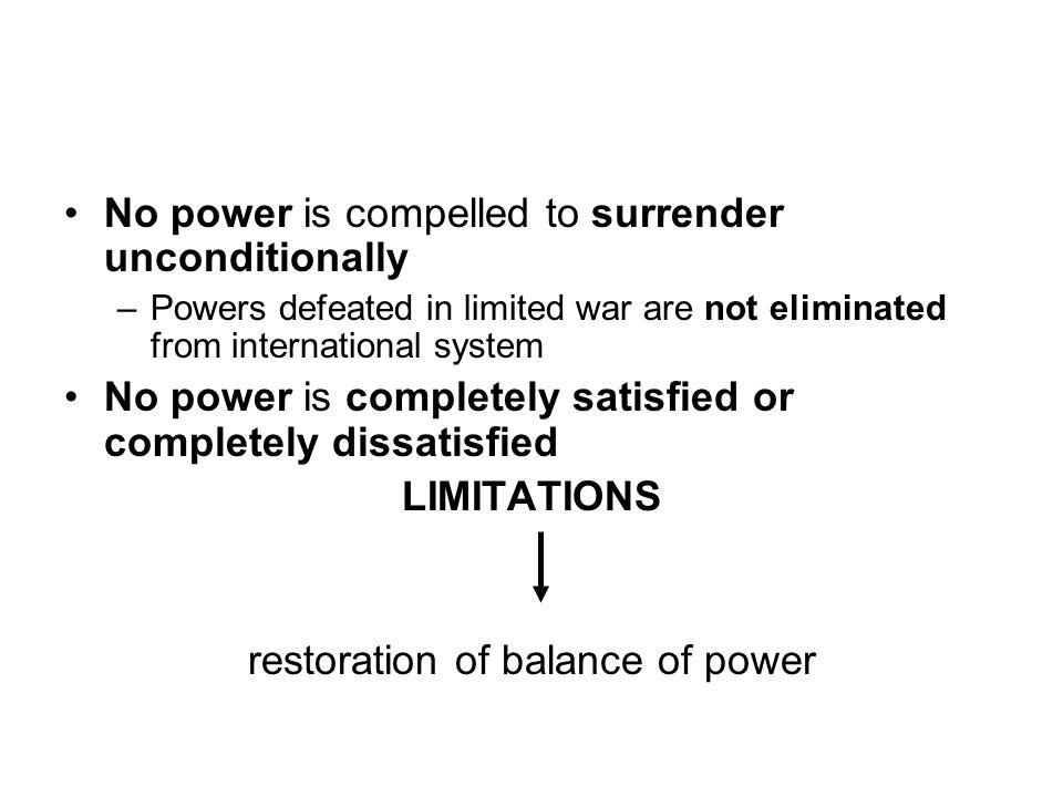restoration of balance of power