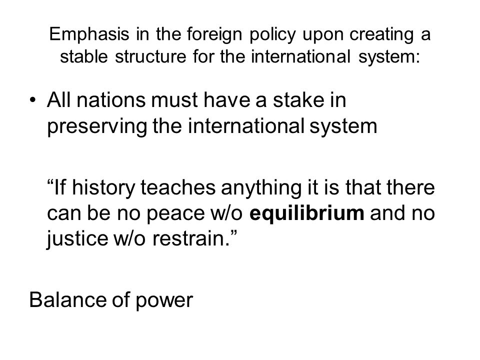 All nations must have a stake in preserving the international system