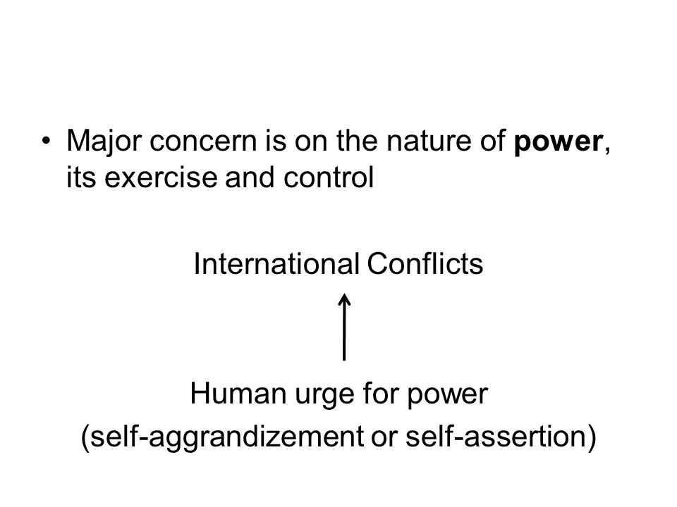 Major concern is on the nature of power, its exercise and control