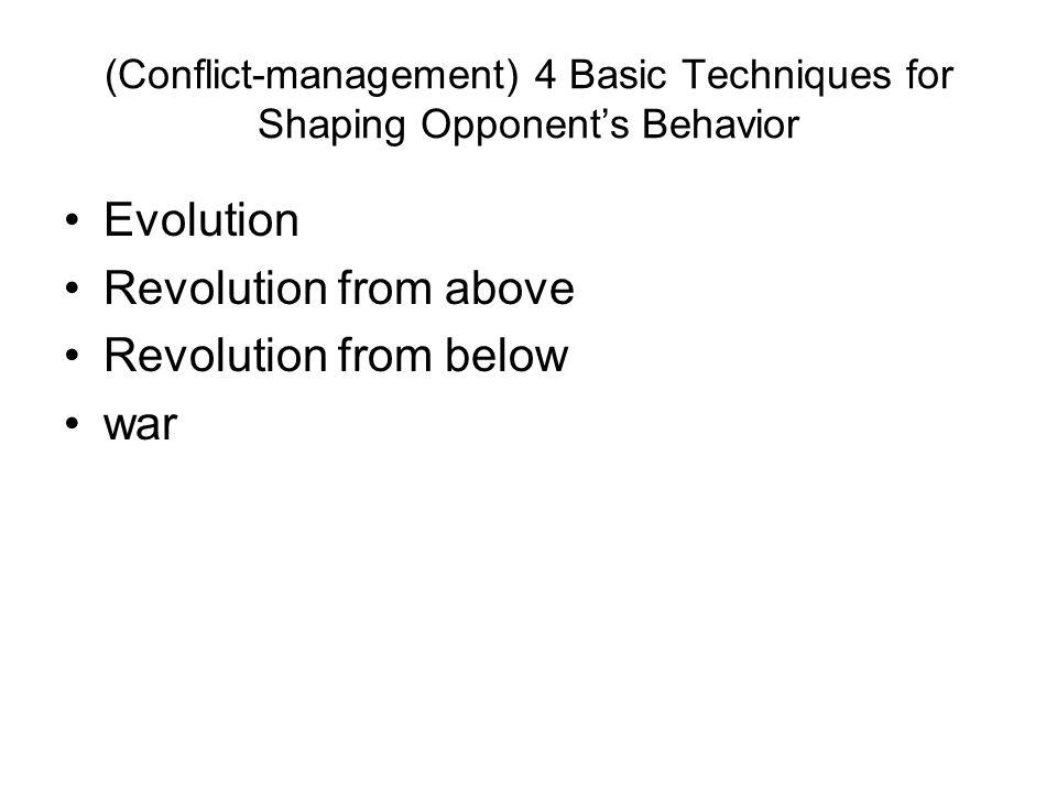 Evolution Revolution from above Revolution from below war