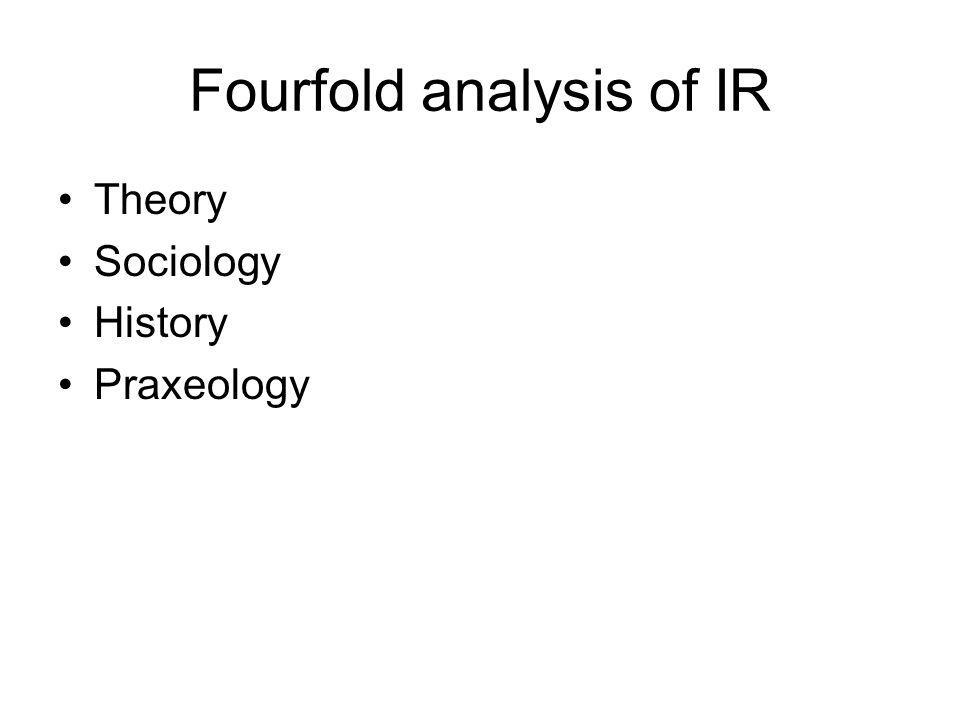 Fourfold analysis of IR