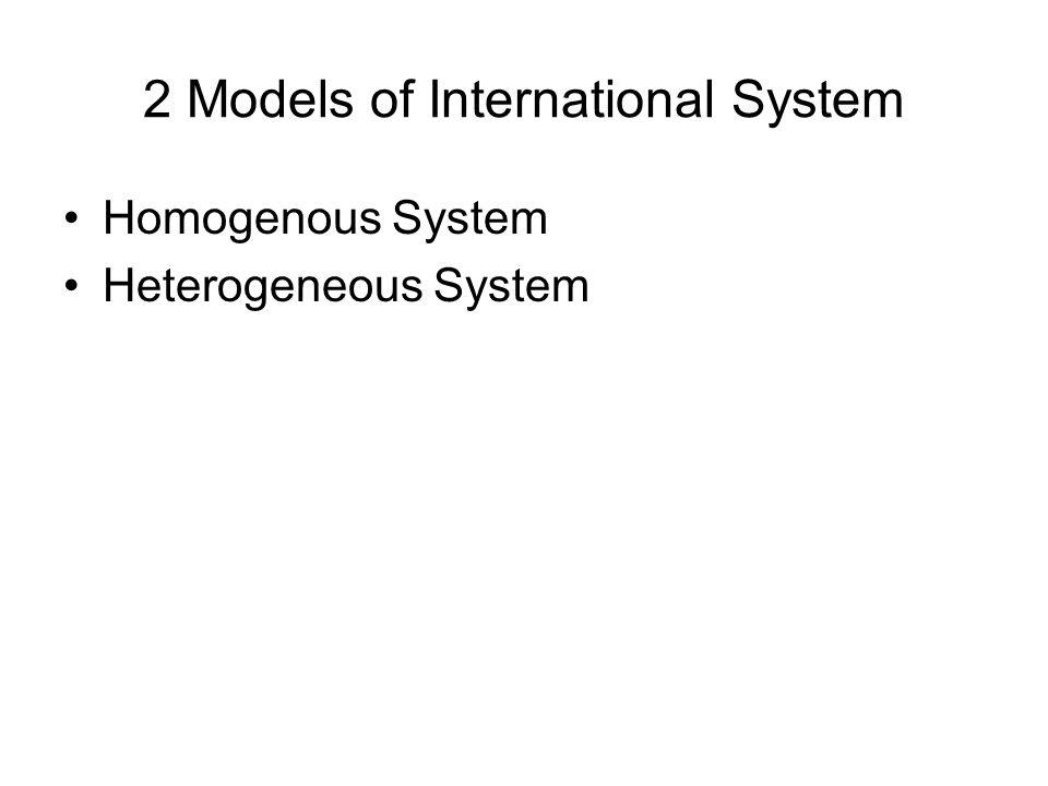 2 Models of International System