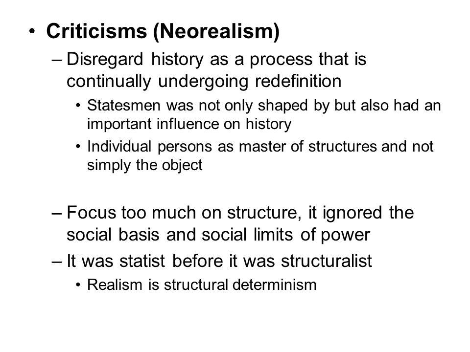 Criticisms (Neorealism)