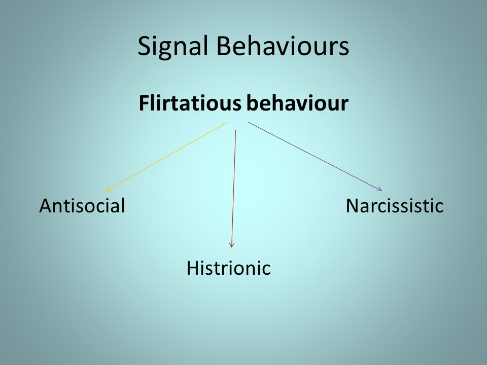 Flirtatious behaviour