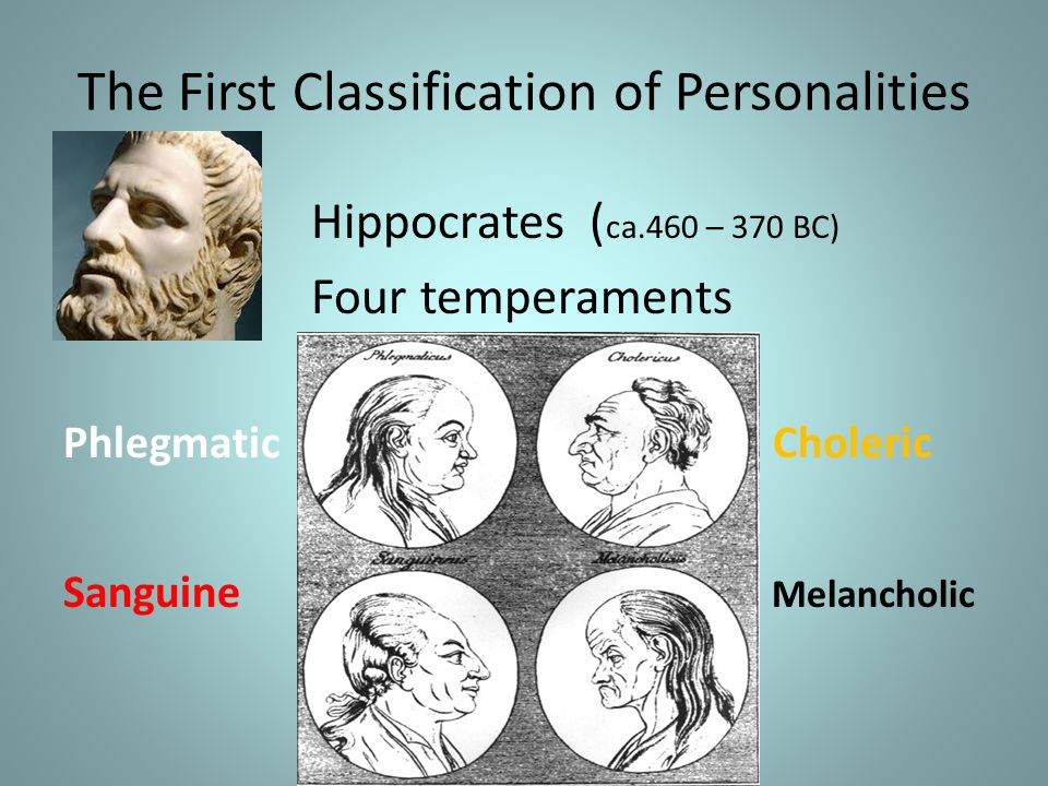The First Classification of Personalities