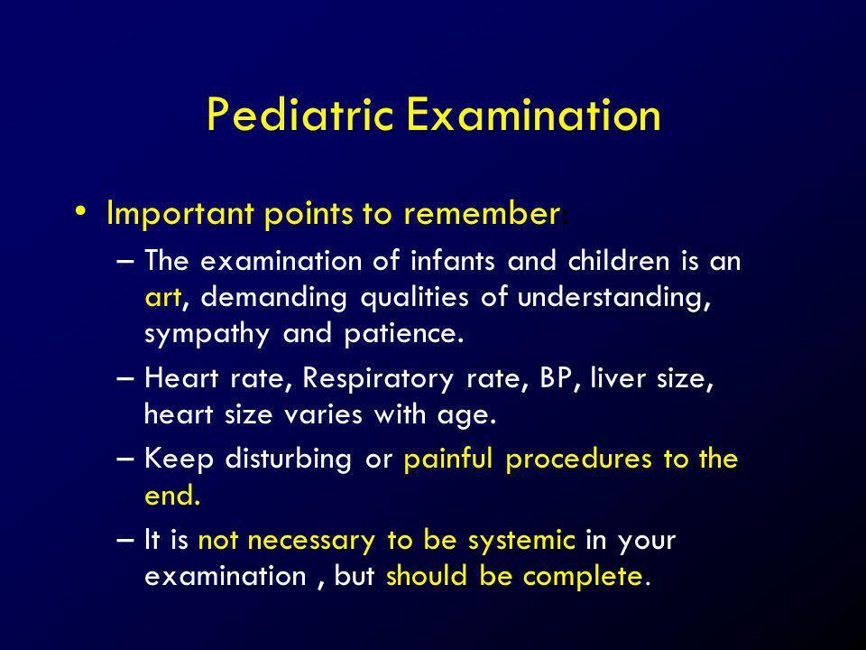 Pediatric Examination