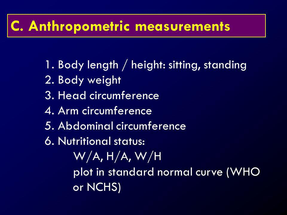 C. Anthropometric measurements
