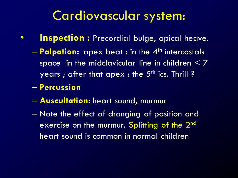 Cardiovascular system: