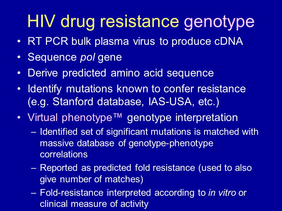 HIV drug resistance genotype