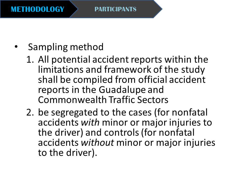 METHODOLOGY PARTICIPANTS. Sampling method.