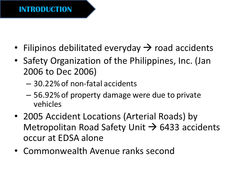 Filipinos debilitated everyday  road accidents