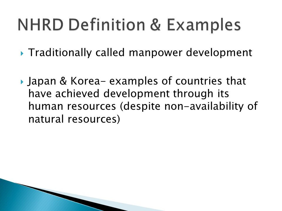 NHRD Definition & Examples