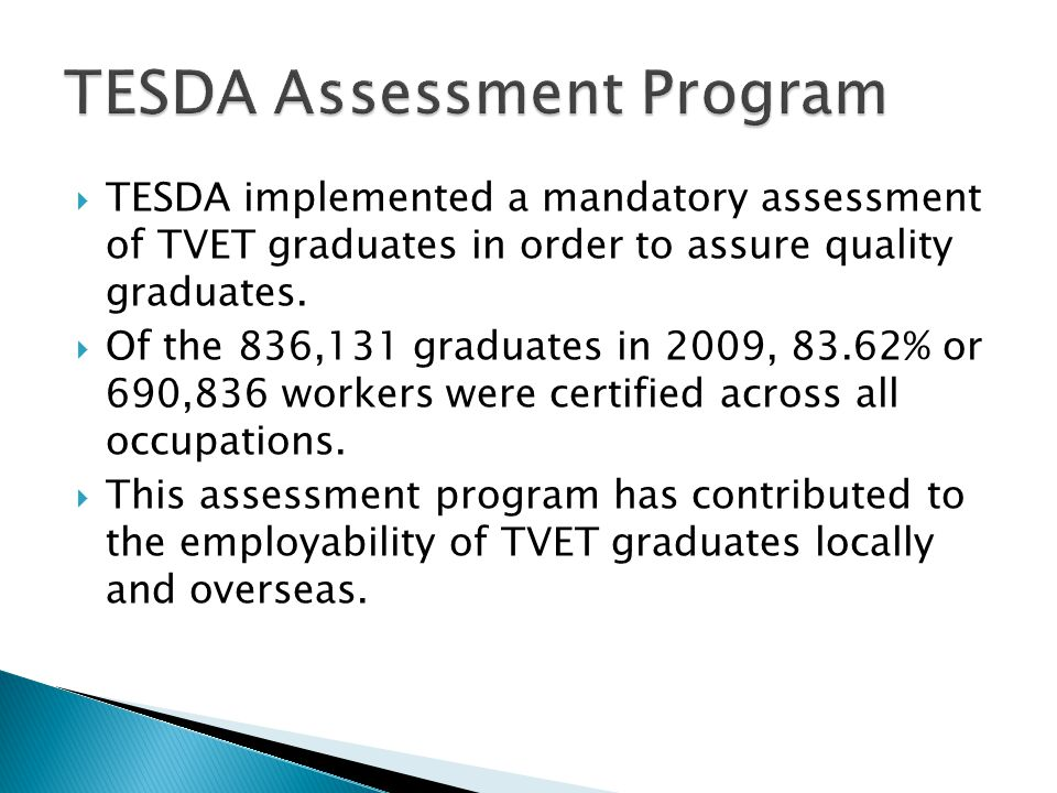 TESDA Assessment Program