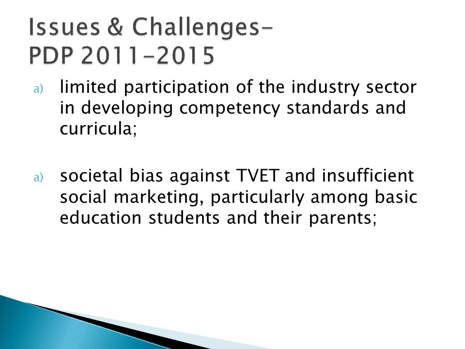 Issues & Challenges- PDP 2011-2015