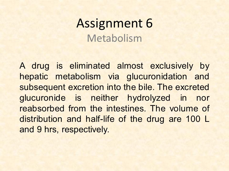 Assignment 6 Metabolism