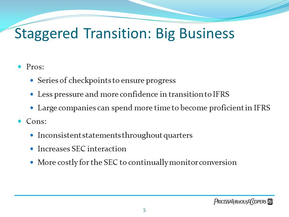 Staggered Transition: Big Business