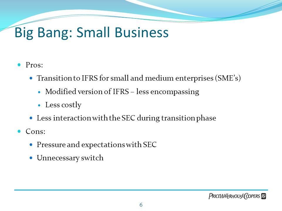 Big Bang: Small Business