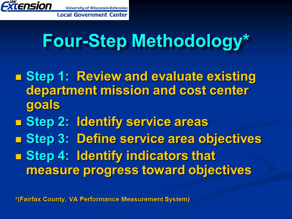 Four-Step Methodology*