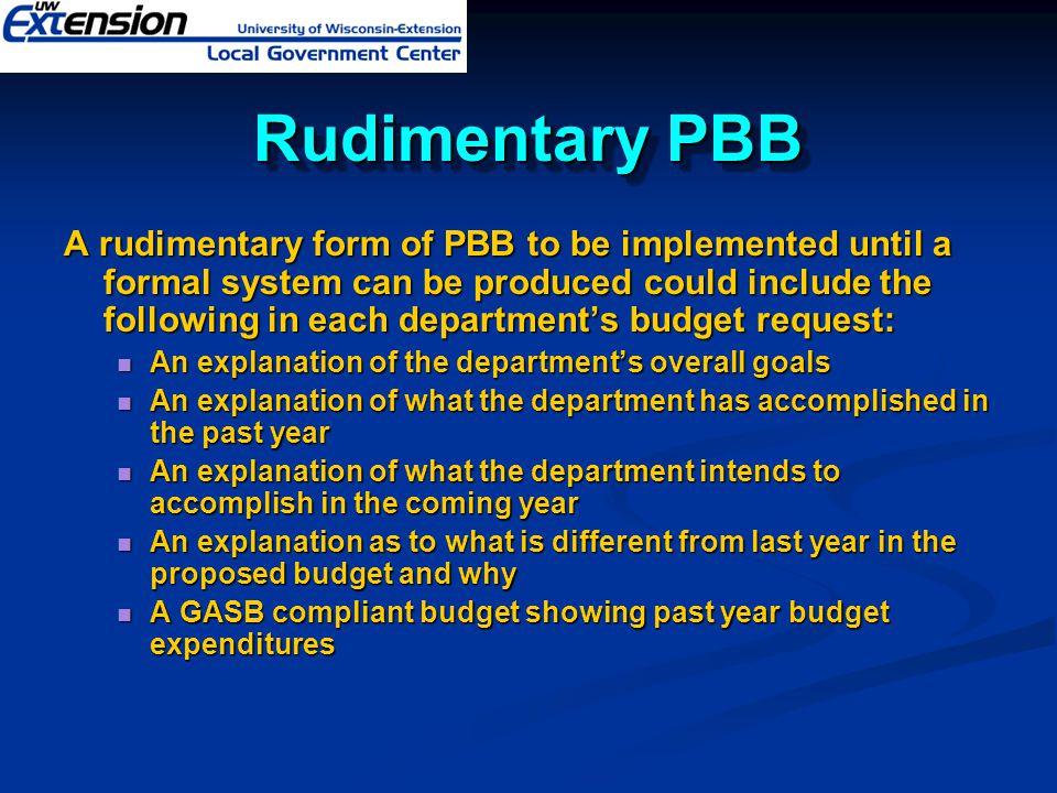 Rudimentary PBB