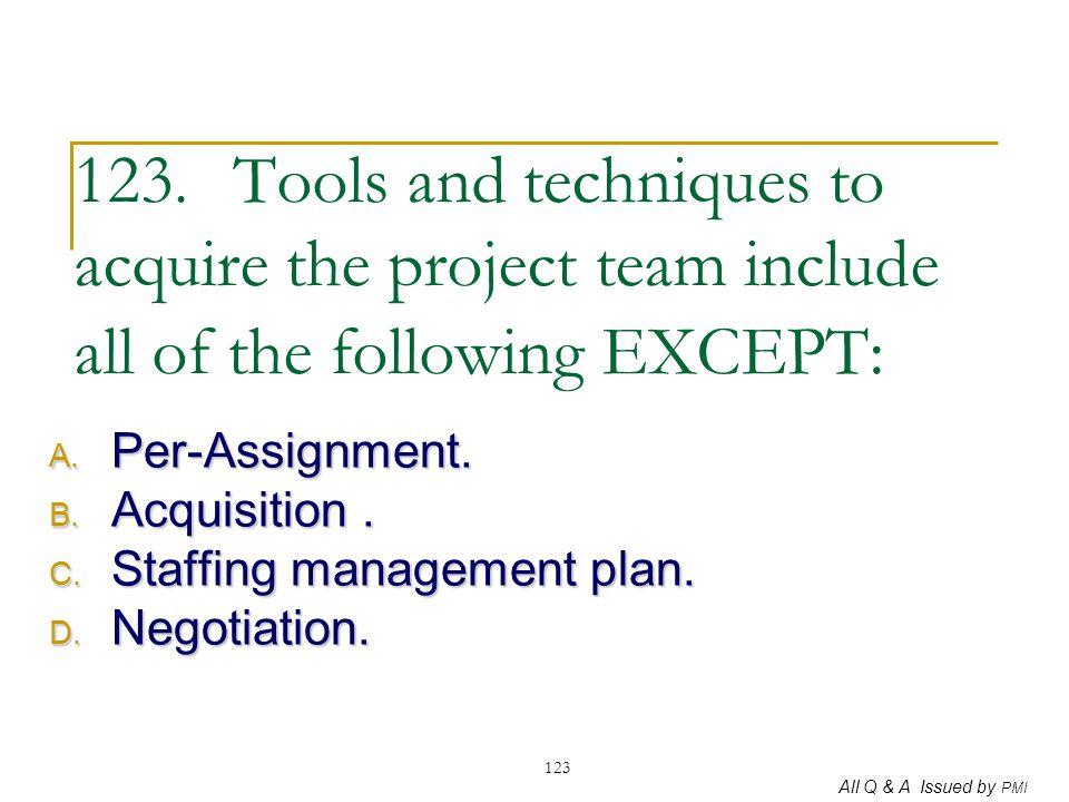 Per-Assignment. Acquisition . Staffing management plan. Negotiation.