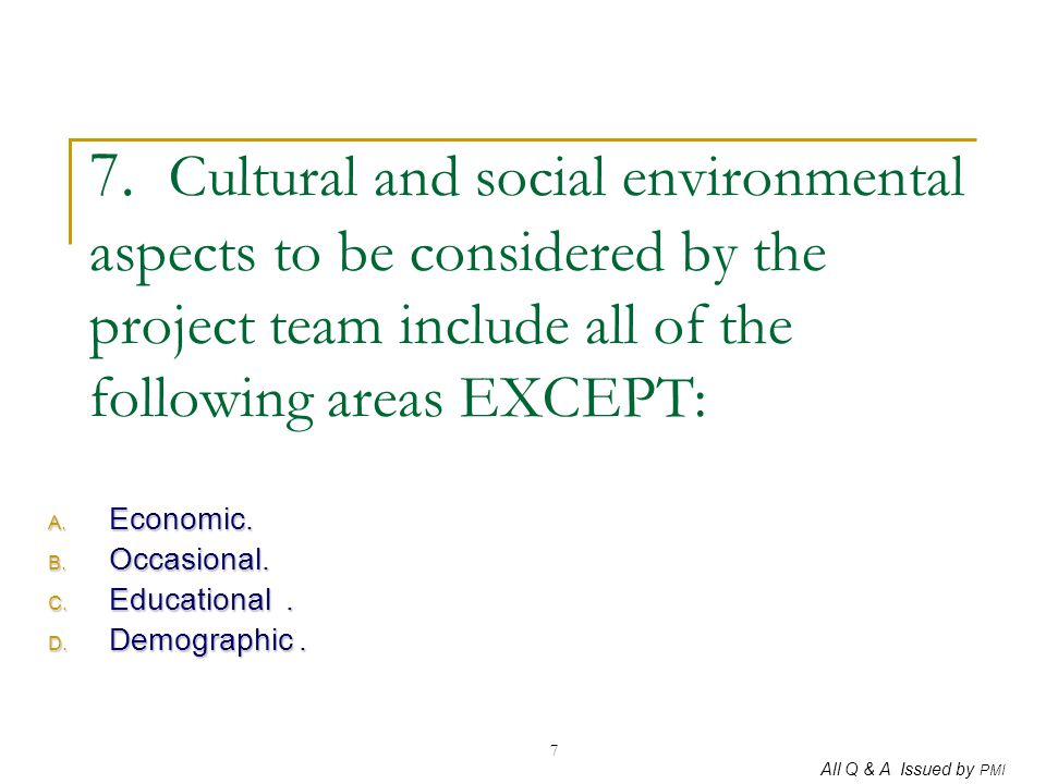 Economic. Occasional. Educational . Demographic .