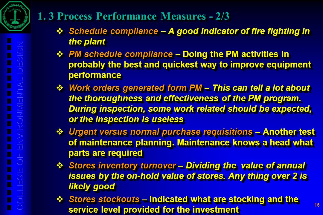 1. 3 Process Performance Measures - 2/3