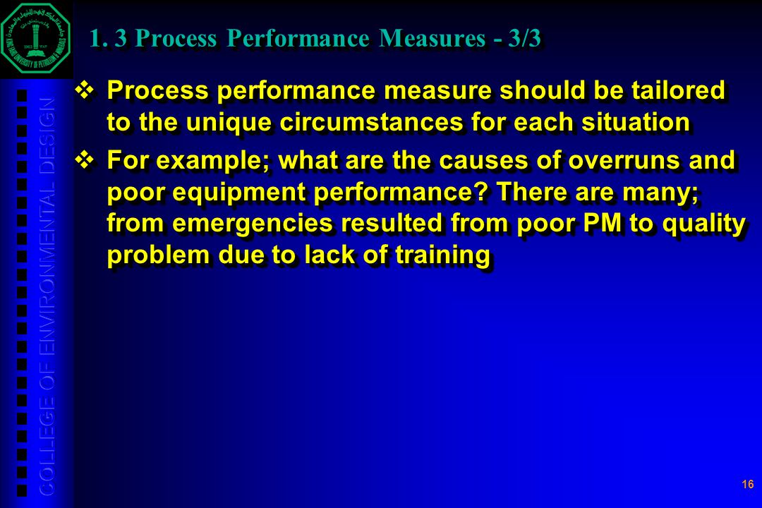 1. 3 Process Performance Measures - 3/3