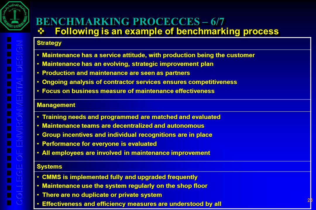 BENCHMARKING PROCECCES – 6/7