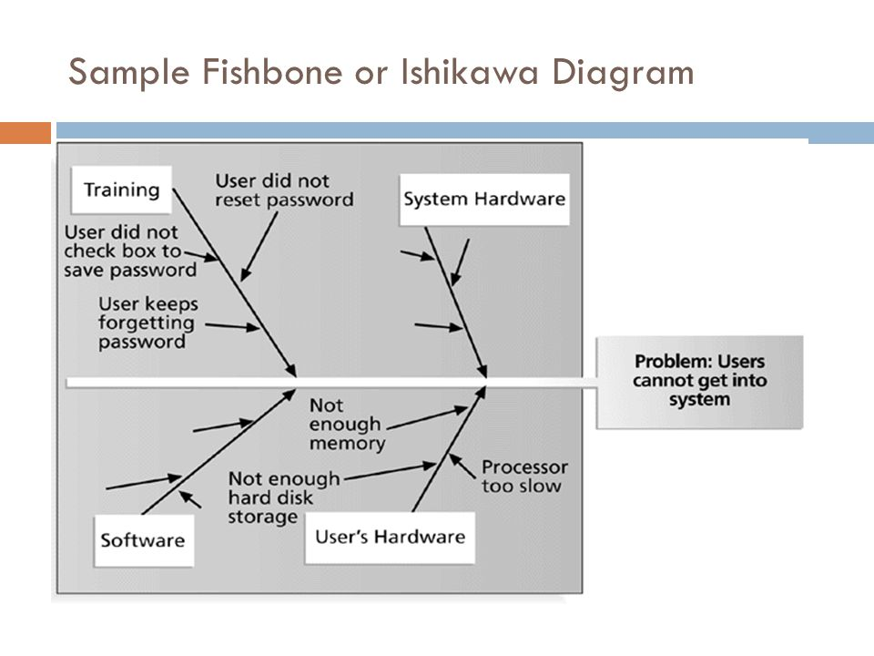 Sample Fishbone or Ishikawa Diagram