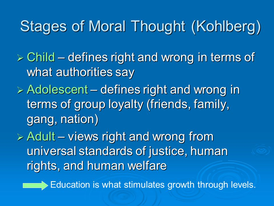 Stages of Moral Thought (Kohlberg)
