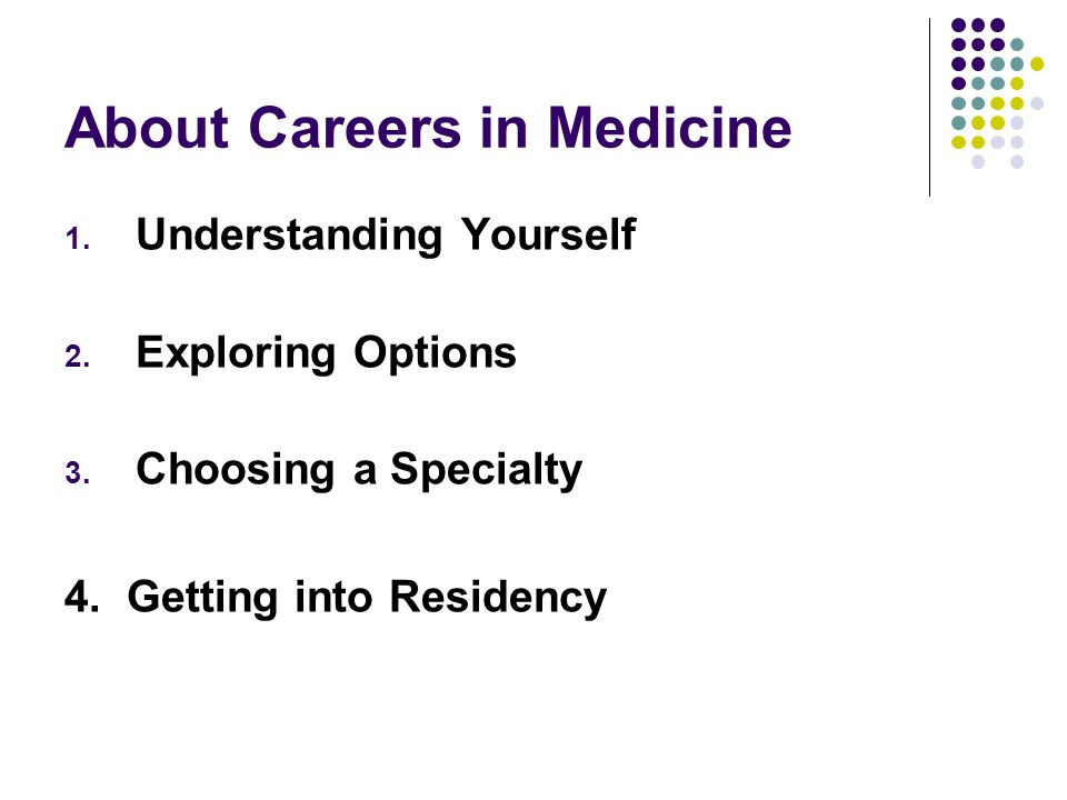 About Careers in Medicine