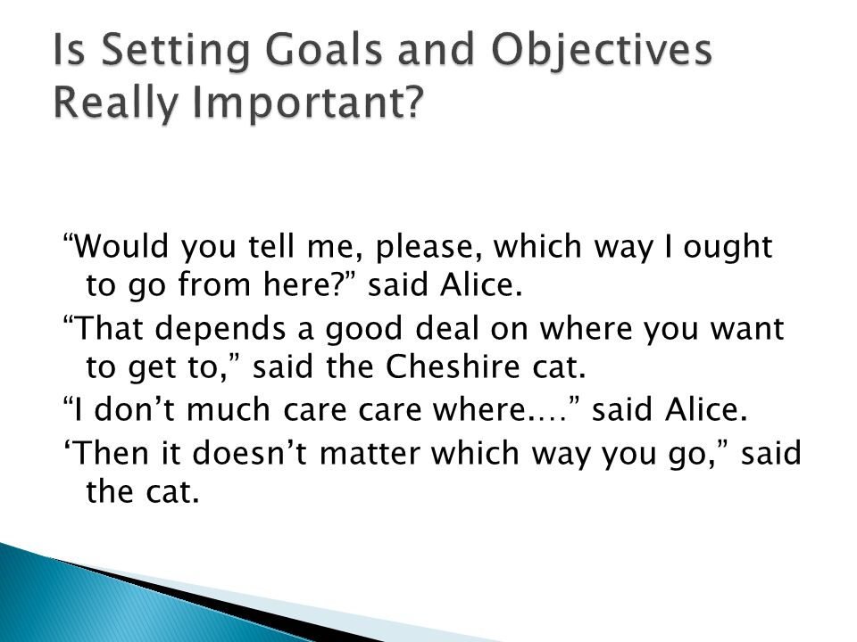 Is Setting Goals and Objectives Really Important