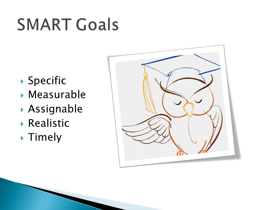 SMART Goals Specific Measurable Assignable Realistic Timely