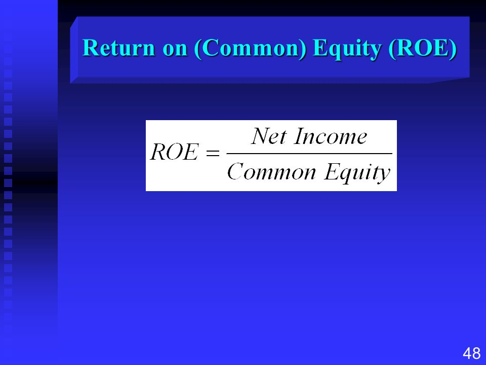Return on (Common) Equity (ROE)