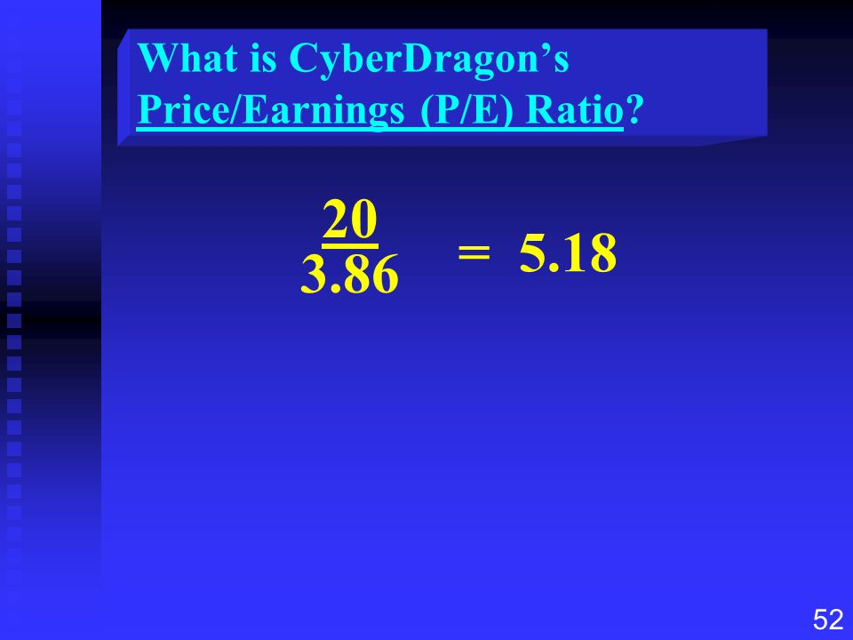 What is CyberDragon's Price/Earnings (P/E) Ratio
