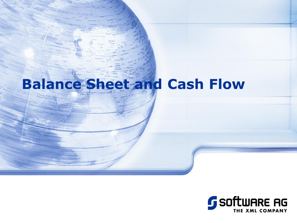 Balance Sheet and Cash Flow