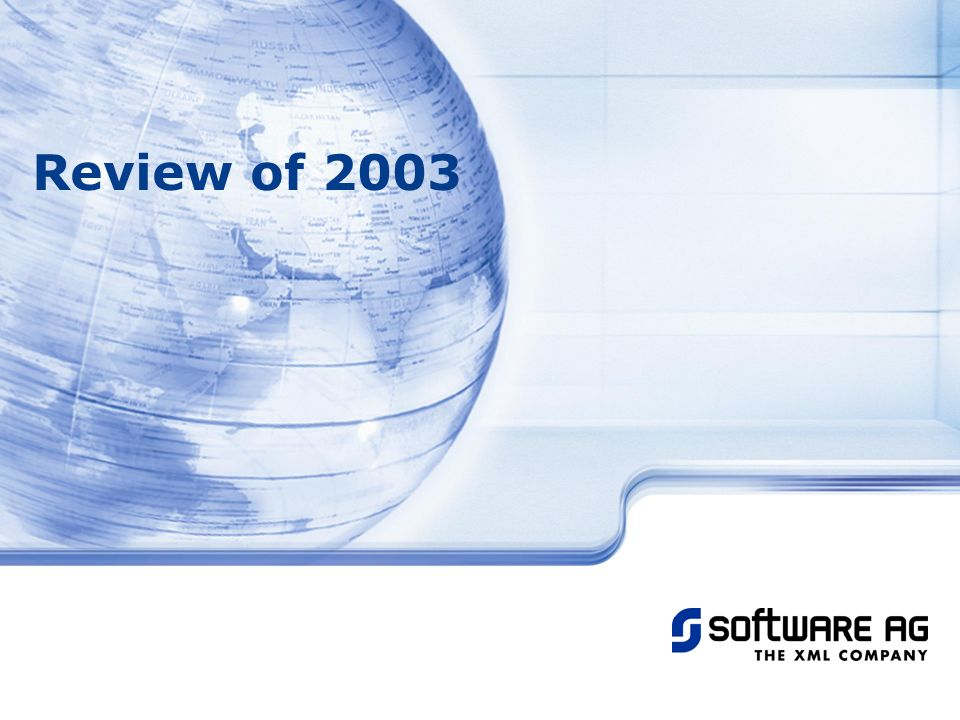 Title of PPT 25-Mar-17 Review of 2003 © Software AG, 2003