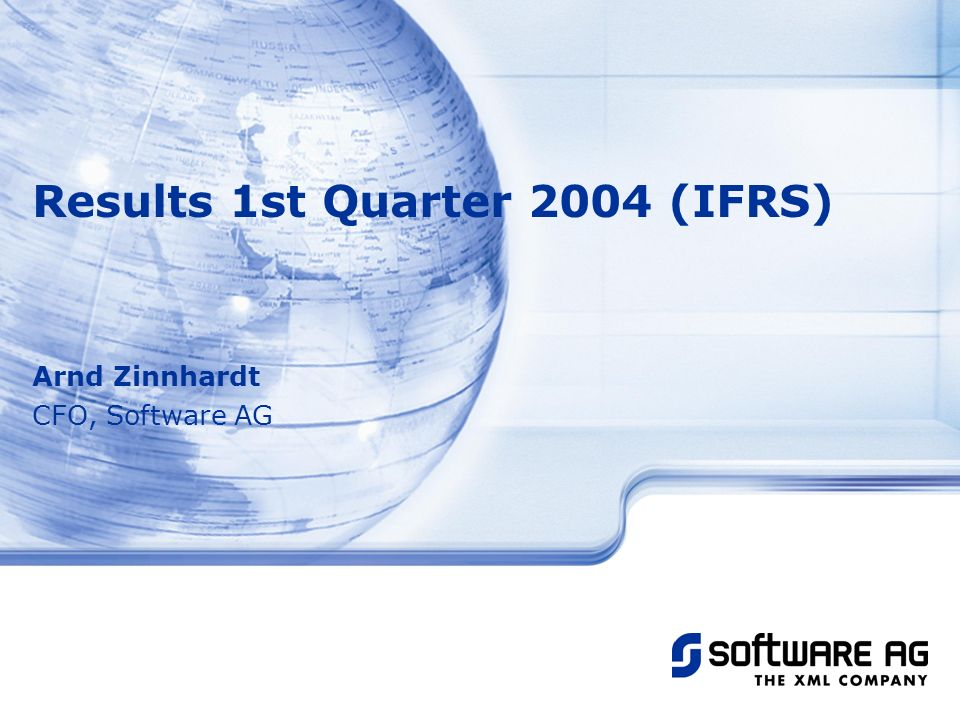Results 1st Quarter 2004 (IFRS)