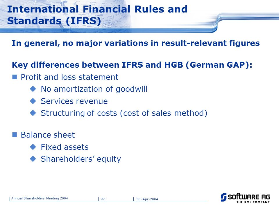 International Financial Rules and Standards (IFRS)