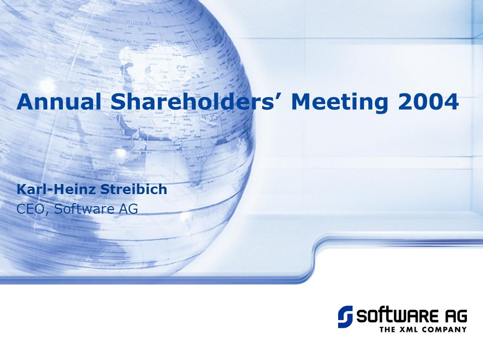 Annual Shareholders' Meeting 2004