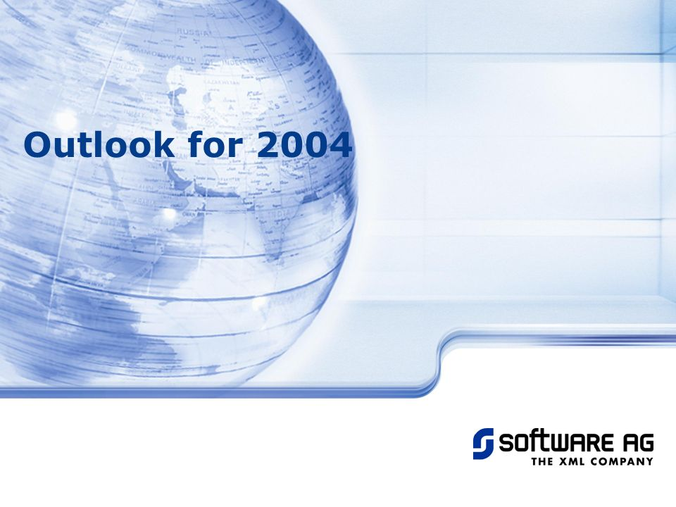 Title of PPT 25-Mar-17 Outlook for 2004 © Software AG, 2003