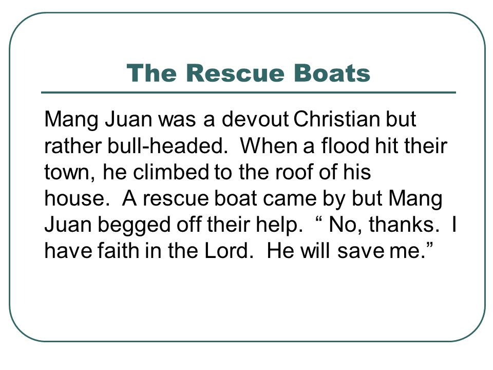 The Rescue Boats