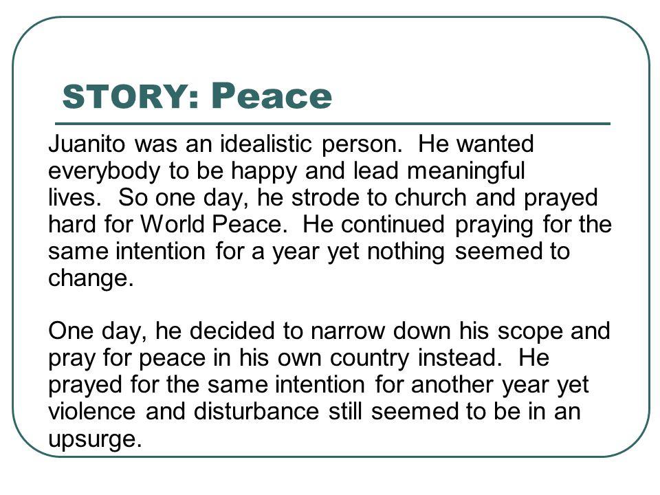 STORY: Peace