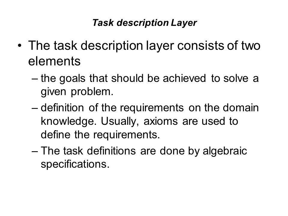 Task description Layer